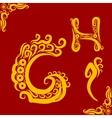 Decorative alphabet vector