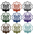 New year labels with sheep vector