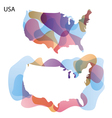 Design map of usa background vector