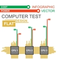 Computer infographic vector