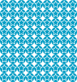Seamless star on blue circle pattern background vector
