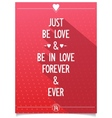 Beautiful lettering about love vector