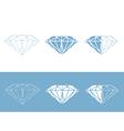 Diamond collection vector