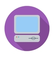 Computer flat icon vector