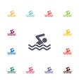 Swim flat icons set vector