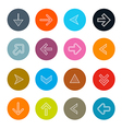 Hatched arrows set in circles isolated on wh vector