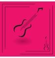Electric guitar icon vector