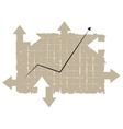 Chart tablet with arrows vector