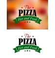 Pizza sign or label vector