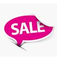 Pink sale speech bubble vector