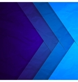 Abstract blue paper crossing rectangle shapes vector