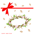 New year gift card with crown of thorns vector