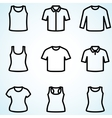 Set of t-shirts icon vector
