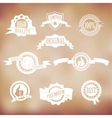 White badges and ribbons vector