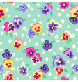 Pattern pansy green vector