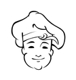 Cheerful country chef with a floppy toque vector