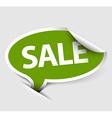 Sale speech bubble vector