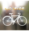 White bicycle vector