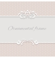 Paper background frame with ornamental vector