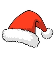 Red santas hat vector
