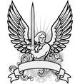 Heraldry man vector