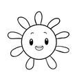 Funny sun coloring book vector