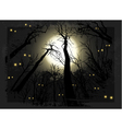 Spooky midnight grunge forest for halloween vector
