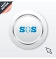 Sos sign icon lifebuoy symbol vector