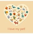 Flat design pets composition vector