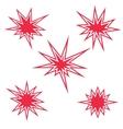Red burst sign set vector