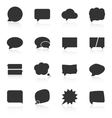 Set of speech bubble icons on white background vector
