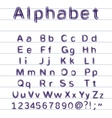 Hand-drawing alphabet vector