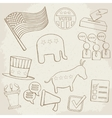 Election hand drawn icons vector