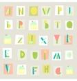 Hand drawn trendy alphabet on light background vector