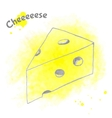 Abstract decorative cheese sketch vector