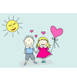 Boy and girl valentines day vector