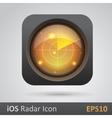 Realistic radar icon vector