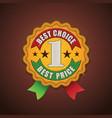 Best choice fabric badge vector