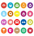 Heart element flat icons on white background vector