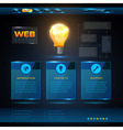 Website template design technology background vector