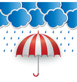 Rainy sky background vector