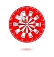 Classic darts board vector