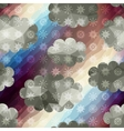 Geometric sky with snowfall vector