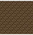 Dark brown colors art nouveau style plant pattern vector