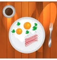 Scrambled eggs and coffee vector