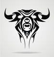 Taurus tattoo design vector