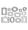 Set of vintage photo frames hand drawn vector