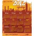 Grunge urban calendar 2012 vector