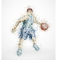 Abstract basketball player vector