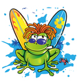 Jamanican frog vector